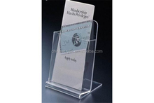 Clear acrylic pamphlet holder wall mount