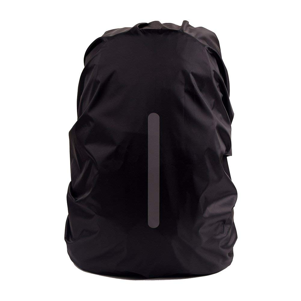 08894066b3b8 Get Quotations · Waterproof Backpack Rain Cover with Stored Bag 25L to 55L Rain  Cover With Reflective Strip for
