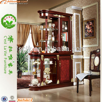 Classical European Style Living Room Divider Cabinet On Sale