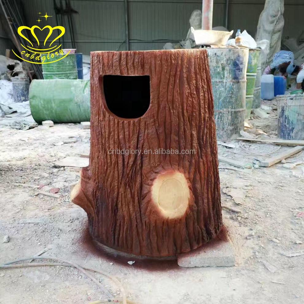 Delicate Garden Decorative Fiberglass Imitative Wood Tree Stump Garbage Can  Sculpture   Buy Decorative Outdoor Fiberglass Garbage Can,Fancy Fiberglass  ...