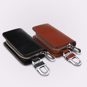 382507ef84828 Genuine leather keychain bag