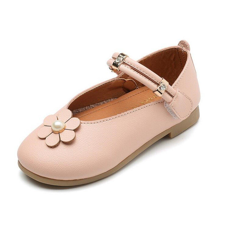 Get Quotations · Kids Shoe Girls Flats Girl Flower Princess Shoes Children  Leather Shoes Girl Party Dance Shoes 1c350c76b88b