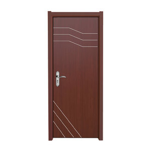 Cheap Price Bathroom Wooden Plastic Panel Leaf Composite Interior WPC Door