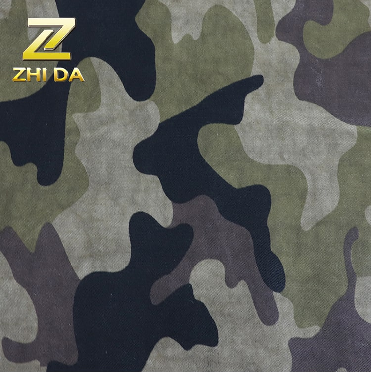 8OZ  waterproof camouflage heavy bee waxed printed cotton fabric for bag for hat for shoe