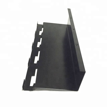 Customized  Black Paint Sheet Metal Fabrication Bend Stamping Parts