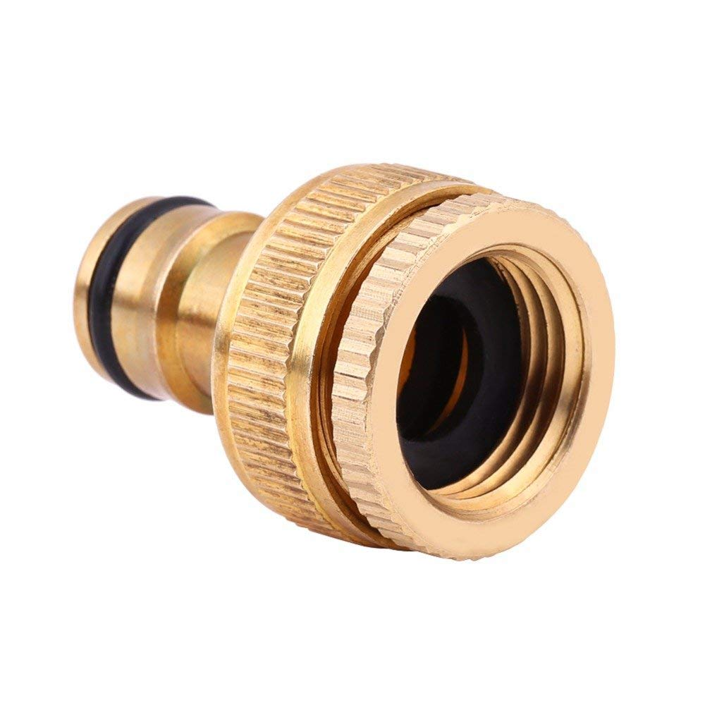 Daphot-Store - 1/2inch 3/4inch Car Washing Water Gun Brass Faucet Pipe Hose Fitting Tap Quick Connector