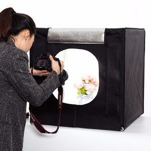 Portable mini photography LED light box camera room for telephone or camera.