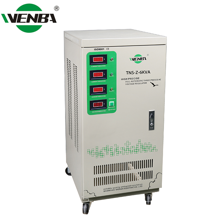 WENBA 3 Phase Alternating Current Over-voltage Protection 6KVA 3 Axis Stabilizer