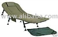BRAND NEW GREEN DELUX BEDCHAIR FOR CARP FISHING / CAMPING