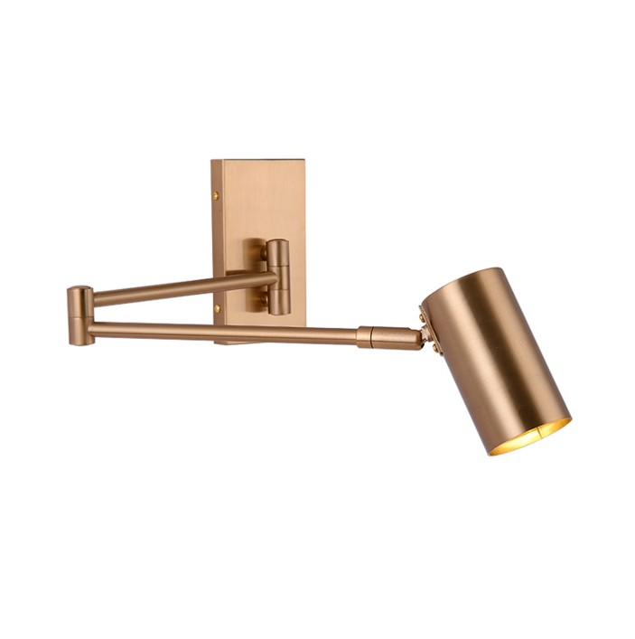 2019 Flexible Gold Fancy Bedside Indoor Wall Sconce Lamps Lighting
