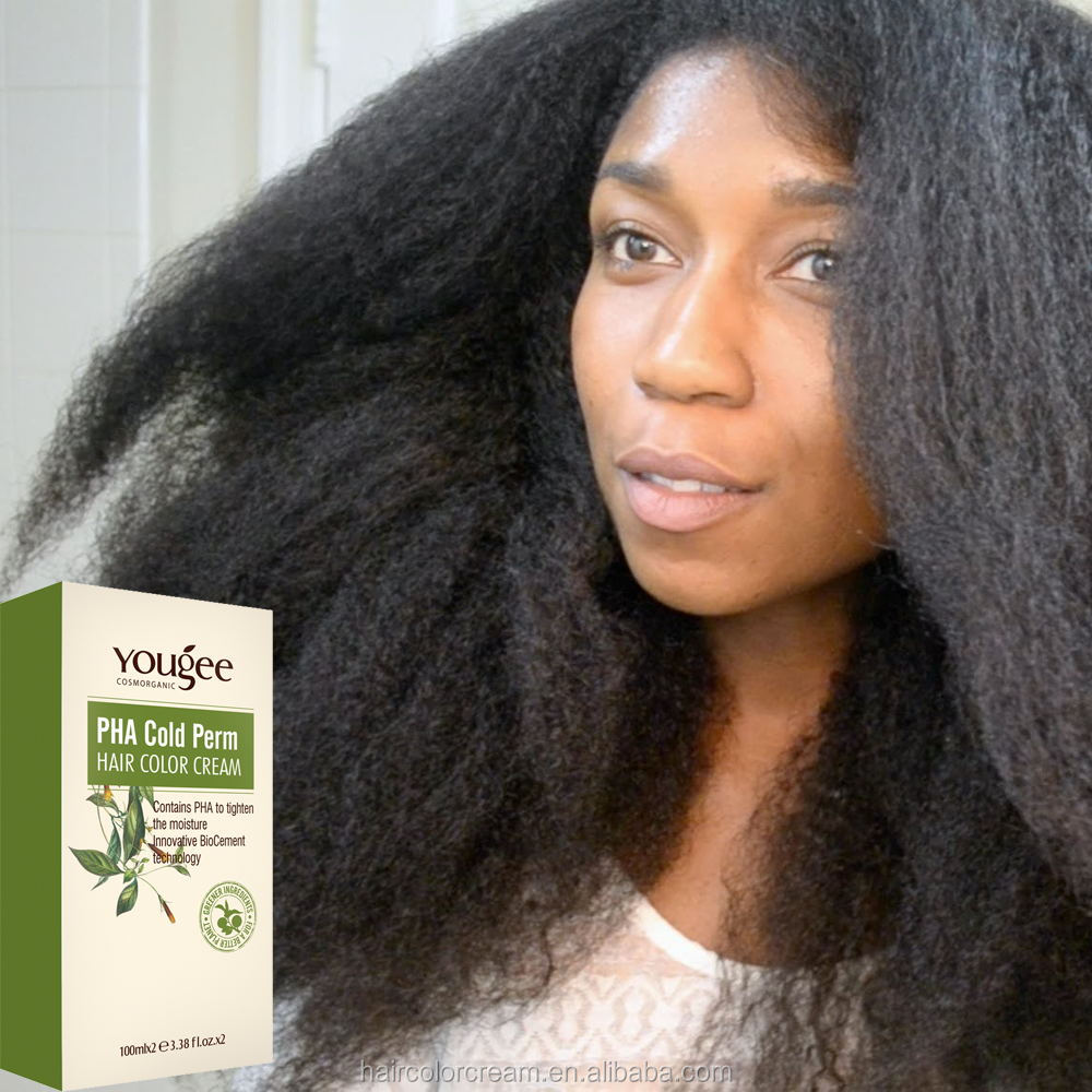 Natural organic PHA ECO-Friendly cold wave hair perm lotion for black human
