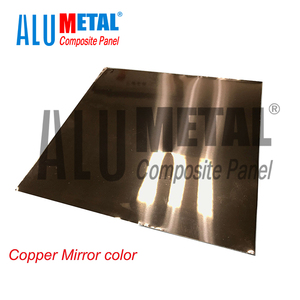 Aluminium composite panels black/blue/cooper/golden/grey/rose/silver/tawny mirror color acp decorative indoor alucobond