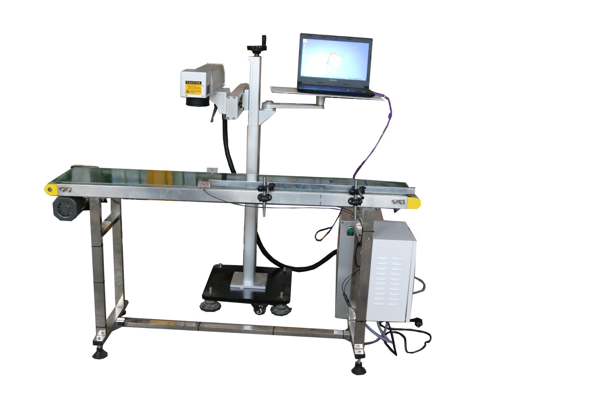 Fluenct fiber laser marking system LXF-20W 30w conveyor belt laser marking  machine, View fiber laser marking system LXF-20W 30w, JNLINK Product