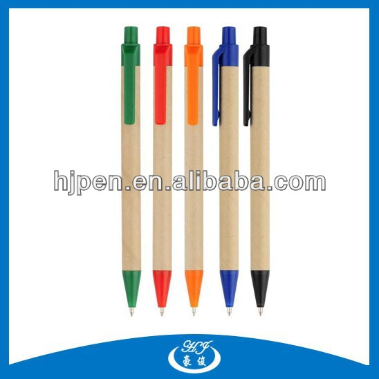 Cheap Promotional Recycle Paper Ballpen Eco Pen