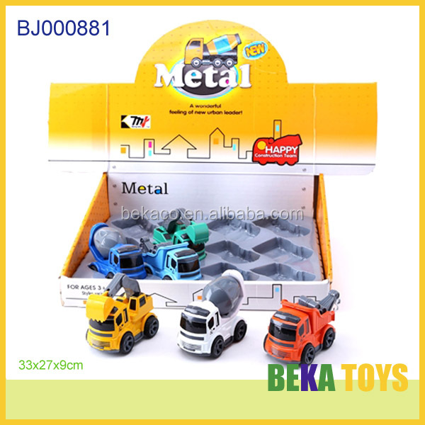 New baby toy mini metal construction truck metal diecast concrete mixer truck model