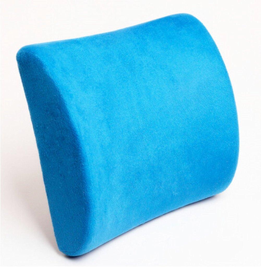 Moyishi Blue Memory Foam Seat Chair Lumbar Cushion Pillow Back Support Pad For Car Sedan Office Home