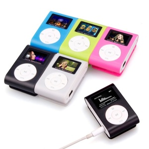hot sell Mini Clip Metal USB MP3 Music Media Player/LCD Screen Clip USB MP3/Mini USB Clip MP3 Player for promotion gift