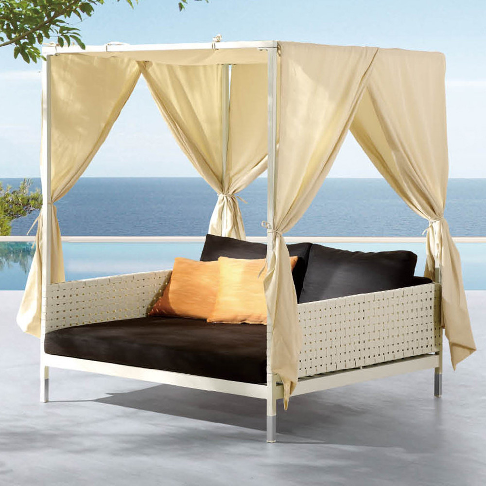 Outdoor bed with canopy home design for Pool canopy bed