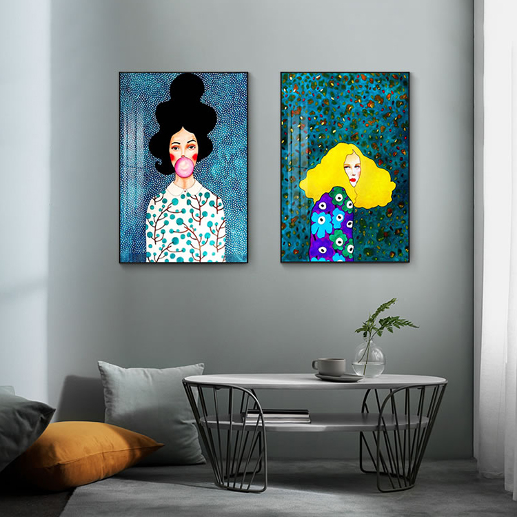Modern Style Handdraw Characters Colorful  Poster Print Decor Wall Art  art oil canvas painting