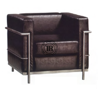 French Replica Steel office Sofa Chair ,Upholstered Single Sofa,Classic Leather Sofa