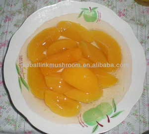 Peach in light syrup canned fruit in halves