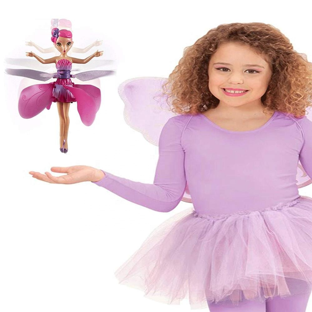 2019 kids interested flying toys girl flying fairy toy <strong>doll</strong>