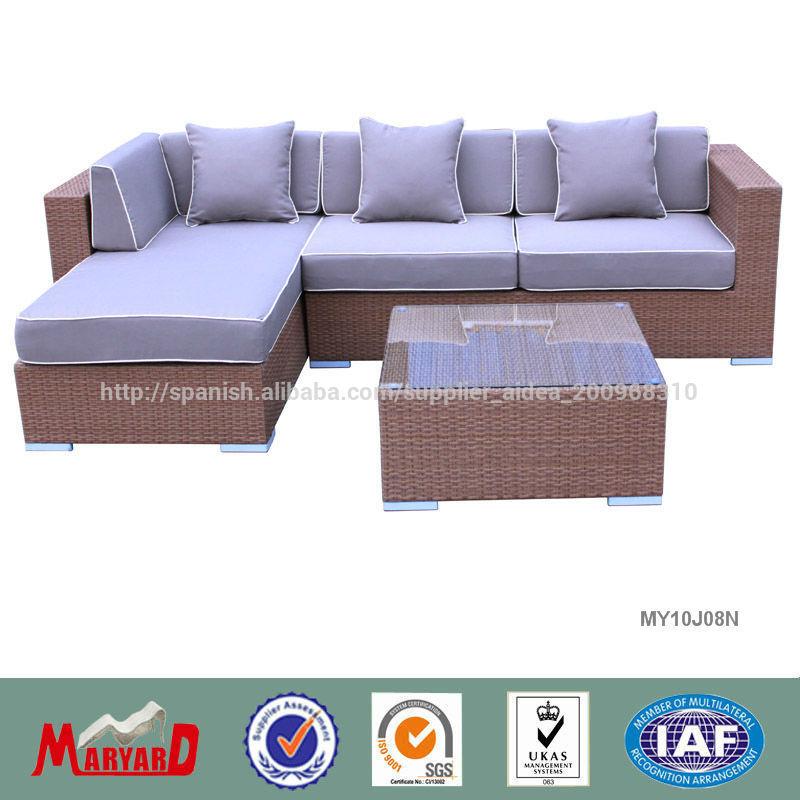 jardín diseño del muebles al aire libre de sofá de ratán y sunbrella ...