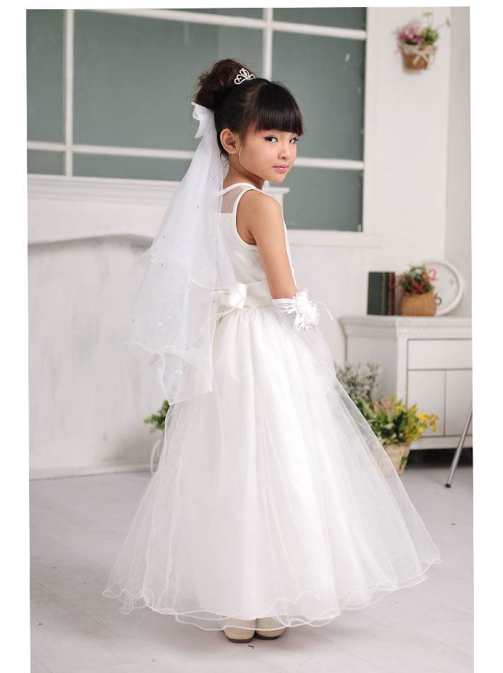 Azel Flower Dress Simple Design White Long Vestidos For 2 14 Years Old Formal S Clothes Birthday Party Kd 14258 Nice Plus Size Clothing