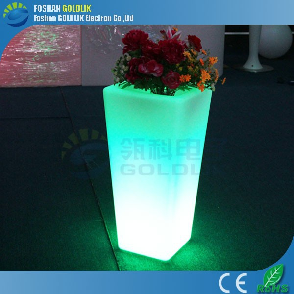 Home Planters Remote Control Outdoor Solar LED Plant Pot Light