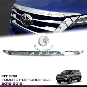 Fit For T oyota New Fortuner SUV 2015-2016 Chrome Front Hood Bonnet Cover Trim