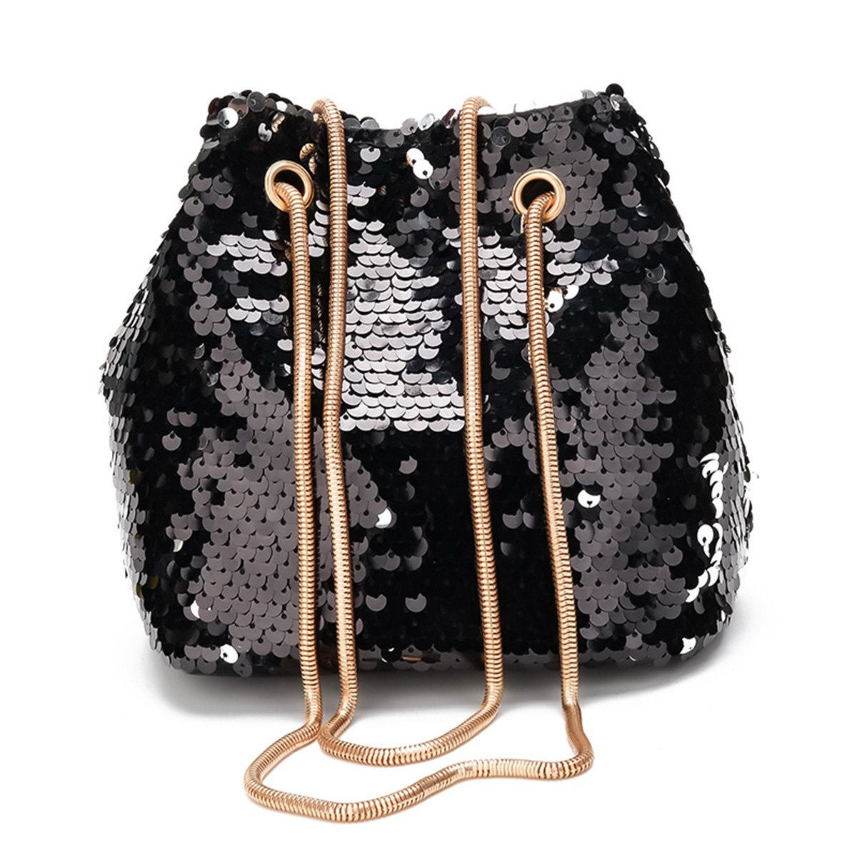 Get Quotations · Women Mermaid Sequins Bucket Bag 4ff0a511522e