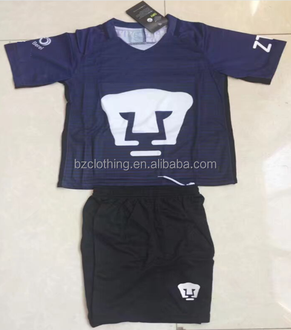 Mexico Pumas UNAM Navy Blue Good Quality Soccer Jerseys and Shorts