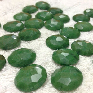 Gemstone loose beads wholesale natural jade,faceted dyed green jade