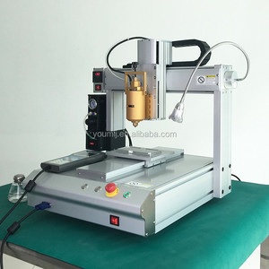 YMJ CE approved teach pendant PLC control fluid glue dispenser robot