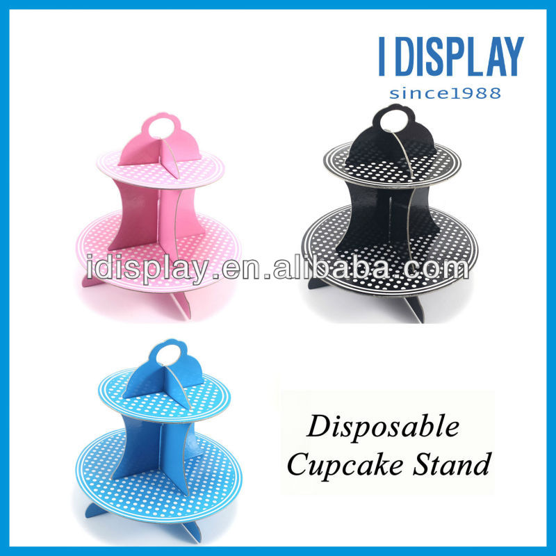 DIY paper disposable cupcake stand for party