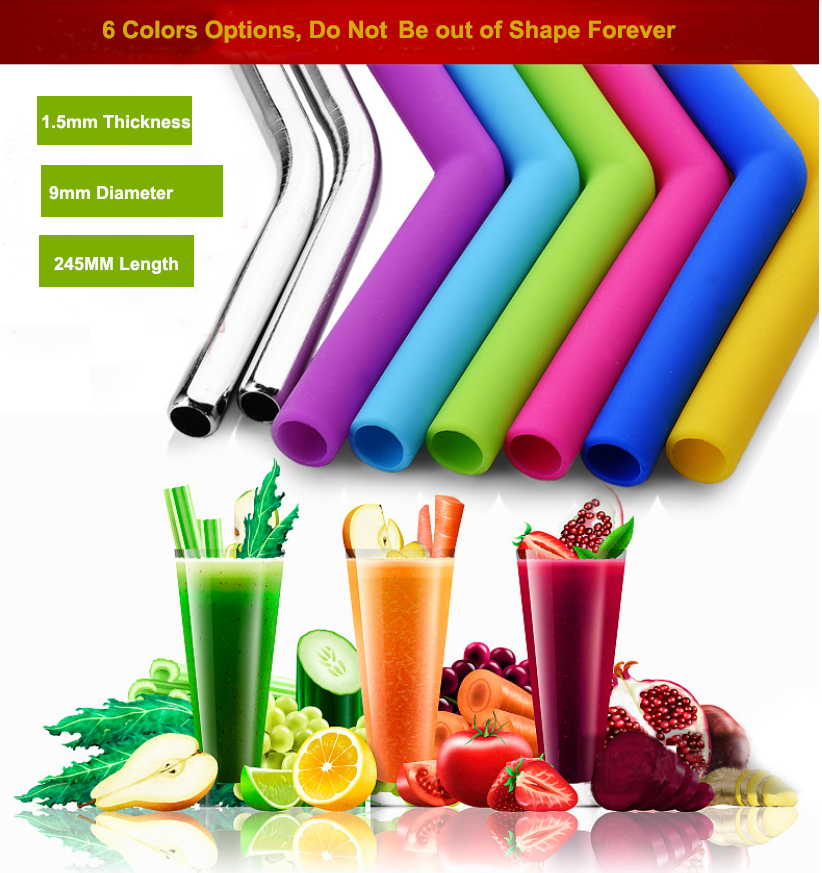 Factory Price Food Grade Reusable Custom Silicone Plastic Eco Friendly Drinking Collapsible Foldable Straw