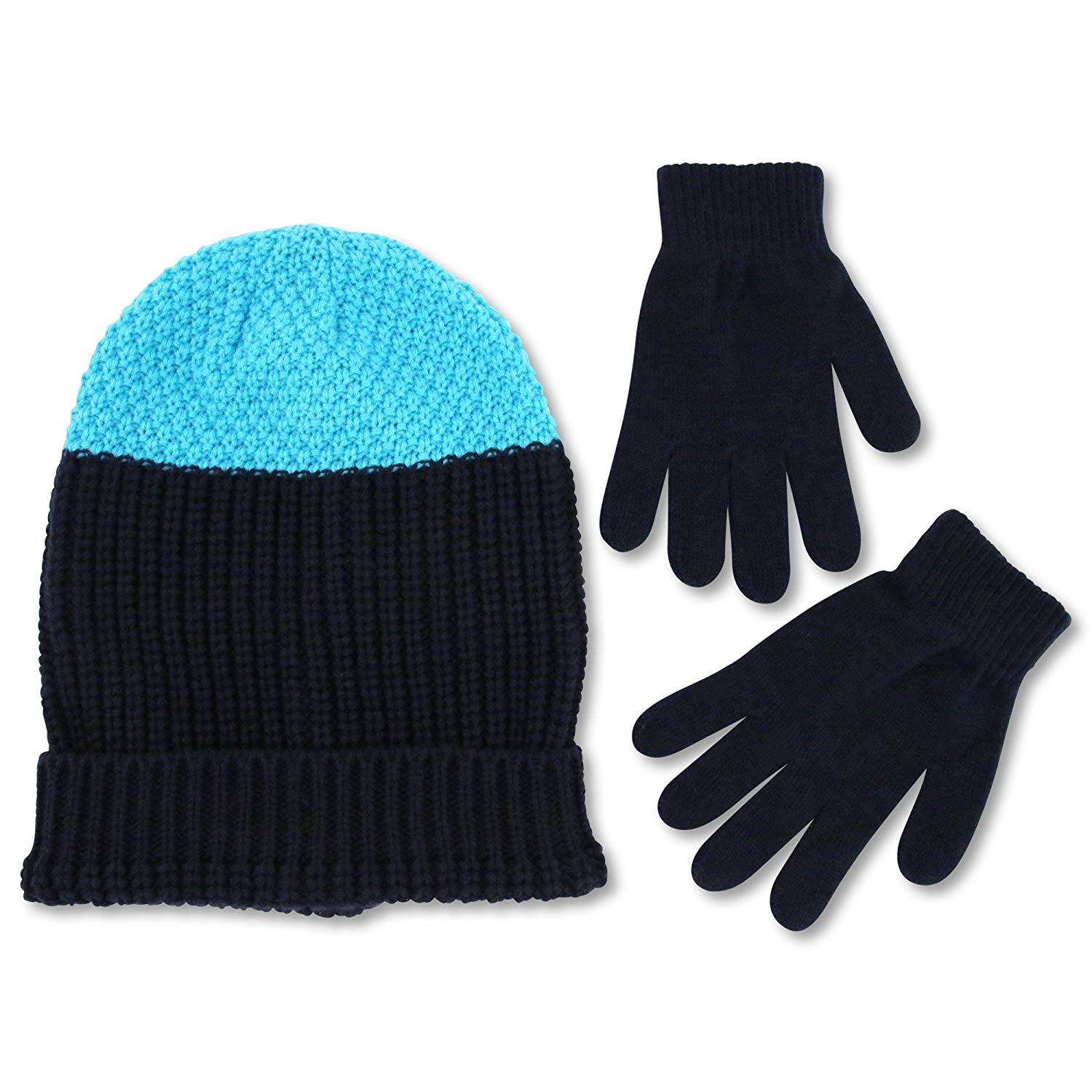 14f854b7419 Get Quotations · ABG Accessories Big Boys  Slouchy Knit Beanie with Magic  Glove Set