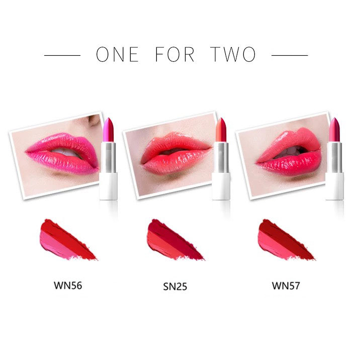 Private Label Custom Logo Dual Lip Stick Fashion Color Makeup Dual Lipstick