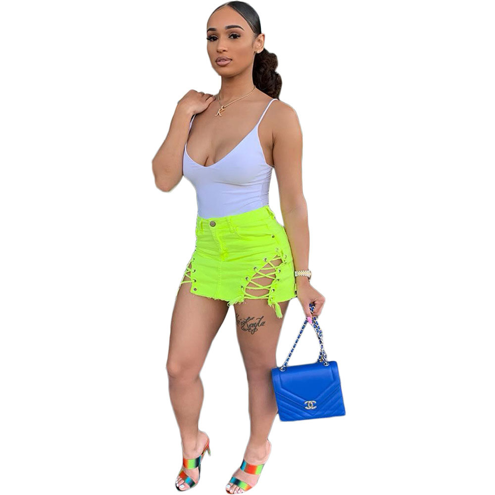 90612-OY2 bandage sexy short pencil skirt for women 2019
