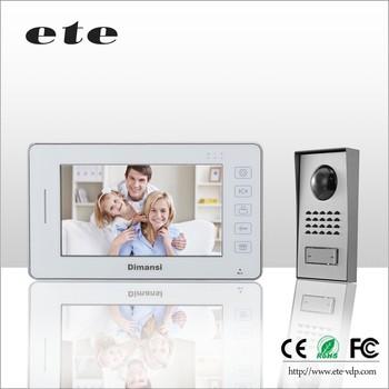 Recording 7 Color Visual Video Door Phone Doorbell Intercom Door