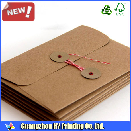 custom print logo newest string and button envelopes