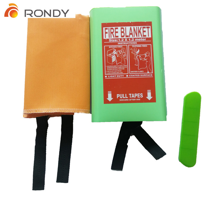High quality silicone / acrylic/ PU/PVC coating fire blanket