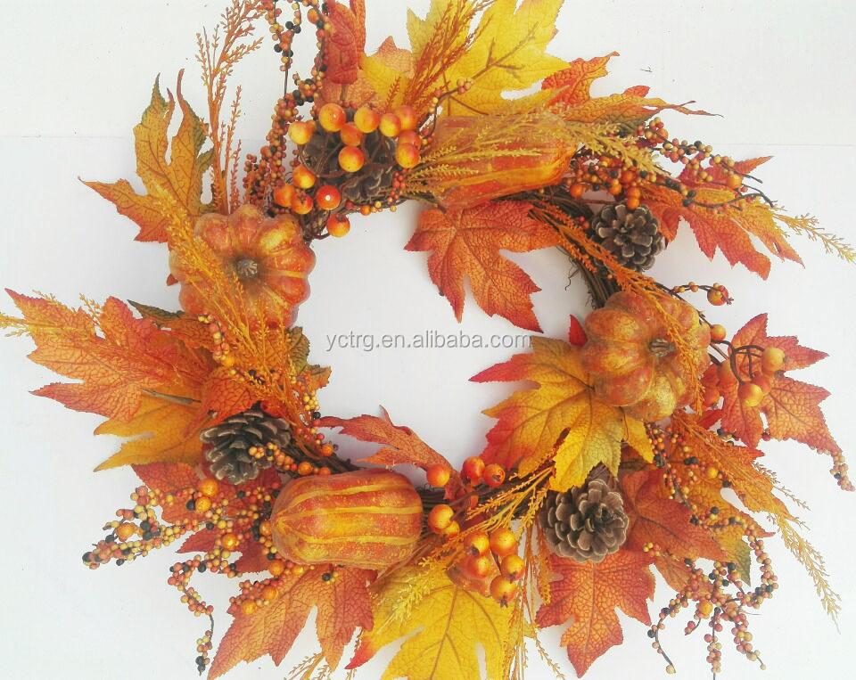 Maple Leaves Door Wreath