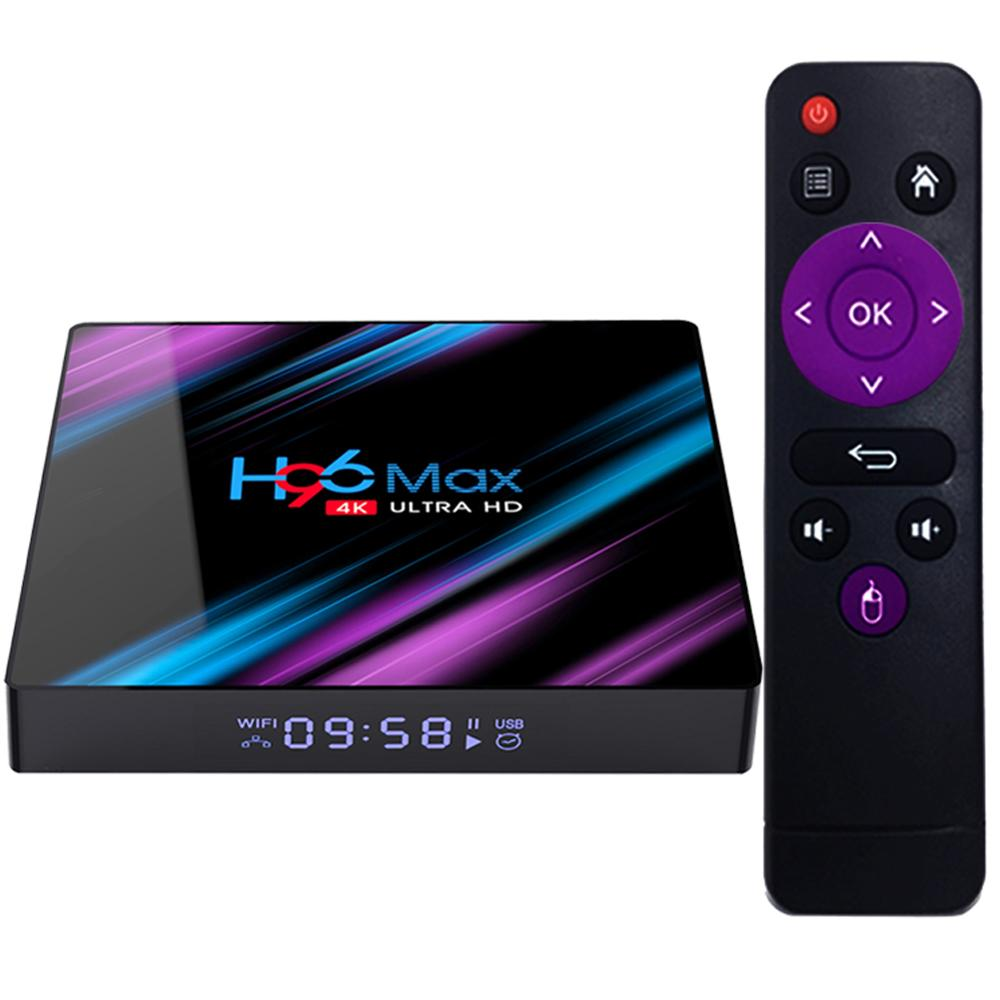 Son teknoloji H96 max RK3318 4 k HDR ram 4 gb ddr3 İnternet android 9.0 tv seti top box