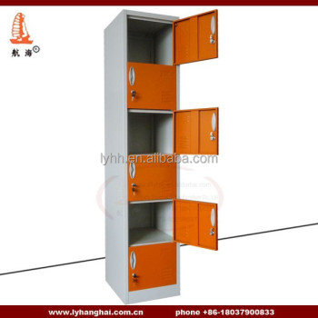 Gym High Quality Locker Standing Jewelry Armoire Mirrors 6 Door