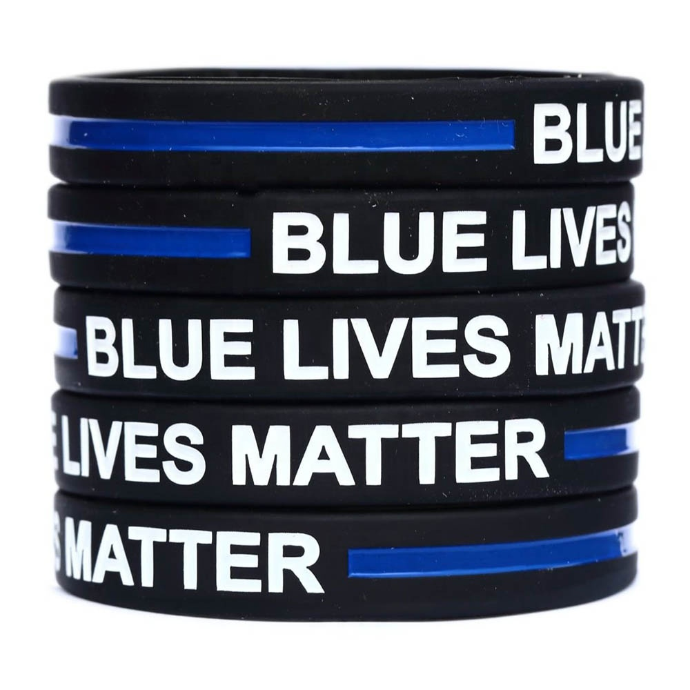 Blue Lives Matter Silicone Wristband Support Officers Bracelet Lives Awareness Silicone Wristband