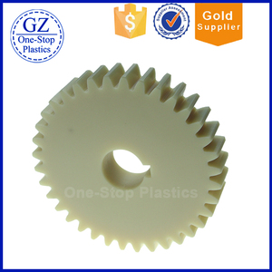 ISO9001 Factory CNC Machining Large Diameter Spur Gears Custom Plastic Nylon Wheel Gear