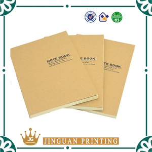 Eco-friendly recycle brown kraft paper blank notebook wholesale
