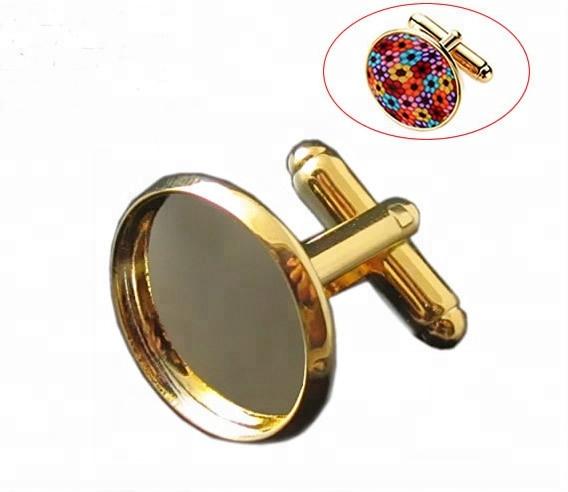 Beadsnice Cuff Fashion Wholesale Inner 16mm-20mm Brass Cufflinks Backs Custom Personalized Cufflinks Blanks, Silver cufflinks