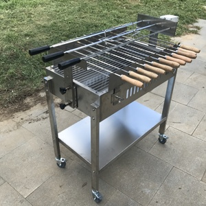Factory Sale Outdoor Commercial Cyprus Charcoal Rotisserie Rotating BBQ Grill